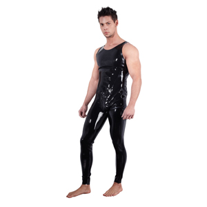 Latex jumpsuit voor mannen