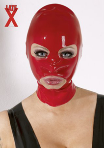 Latex-Maske in Rot