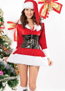 Christmas Outfit Lady Santa