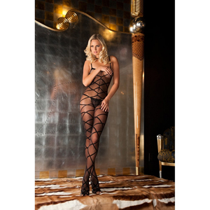 Strapped up Sheer Bodystocking