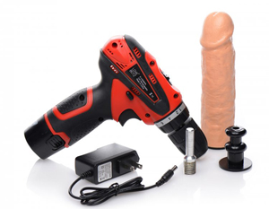 Power Spinner Boormachine Met Dildo