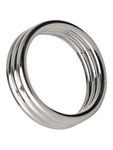 Echo 4.5 cm Stainless Steel Triple Cock Ring