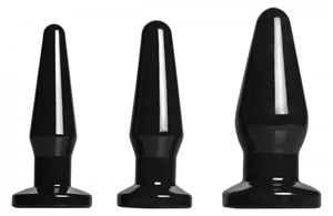 All Black – 3-teiliges Buttplug-Set