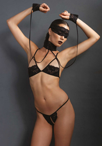 Soft bondage lingerie set