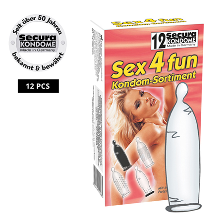 Secura Sex4fun Kondome - 12 Stück
