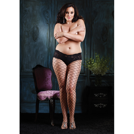 Diamond Strumpfhose - Plus Size