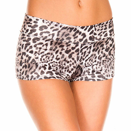 Grijze panterprint short