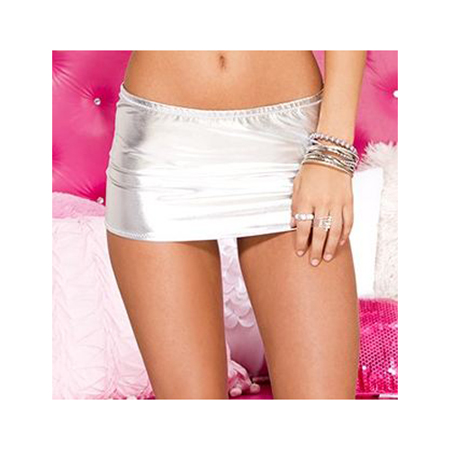 Metallic Mini Rok - Zilver