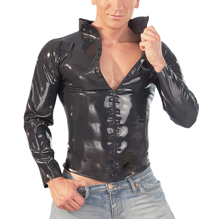 Latex shirt met rits