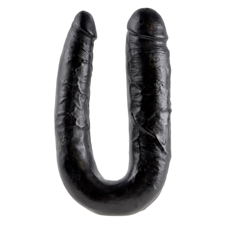 King Cock Large Double Trouble 44,5 cm - zwart