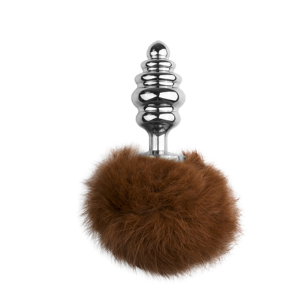 Gerippter Buttplug mit Bunny-Tail