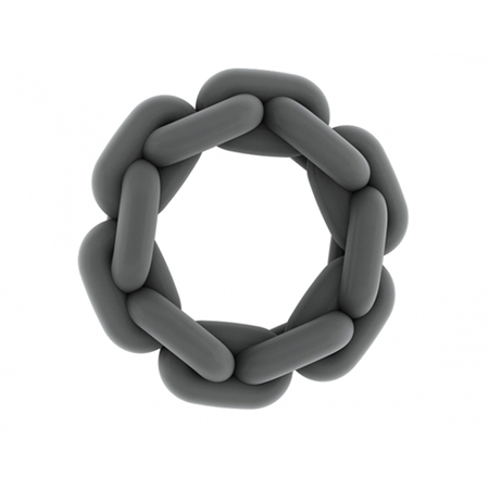 NO. 6 Chain Cockring Grey