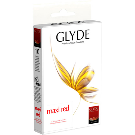 Glyde Ultra Maxi Rood - 10 Grote Condooms