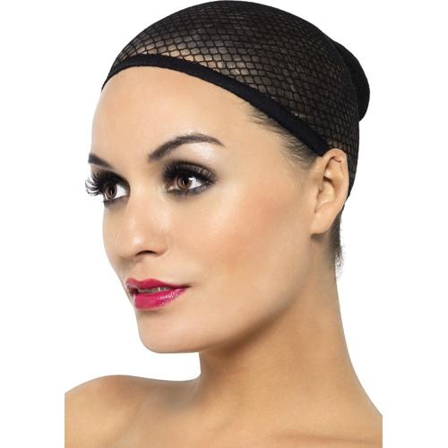 black_mesh_wig_cap