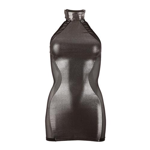 Zilverkleurige mini-jurk