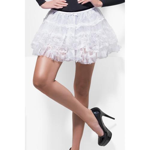 Kanten rok wit