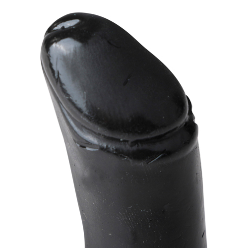 All Black Realistische Dildo Zwart