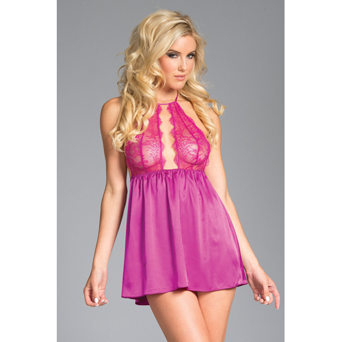 long_satin_babydoll_with_lace_cups_-_pink