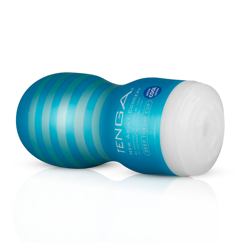Tenga - Original Vacuum Cup Cool Deep Throat - Blauw