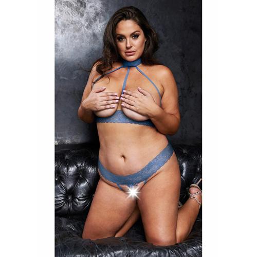 open_halter_bh__kruisloze_string_-_queen_size_-_blauw