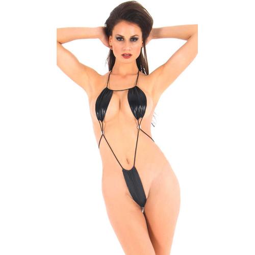 Vixson Wetlook Minimalistische Body - Zwart