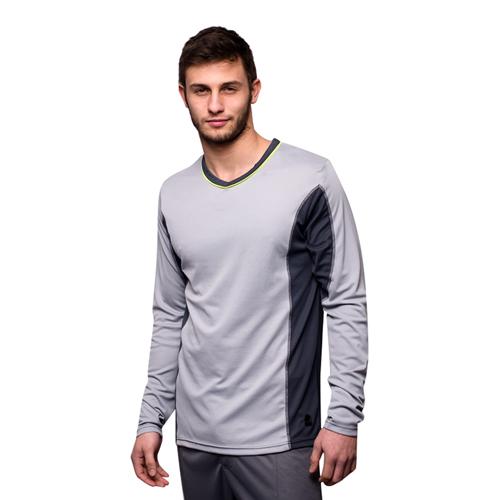 edc wholesale shirt mit langen rmeln in grau. Black Bedroom Furniture Sets. Home Design Ideas