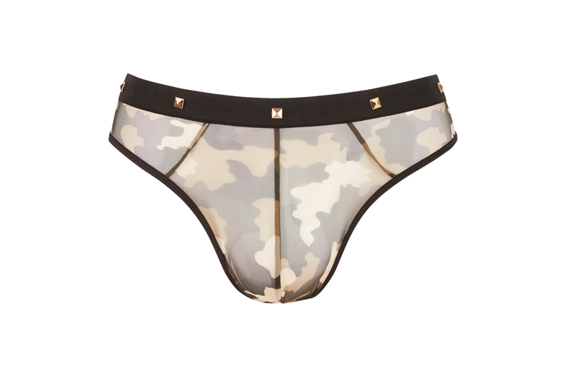 Camouflage String Met Studs