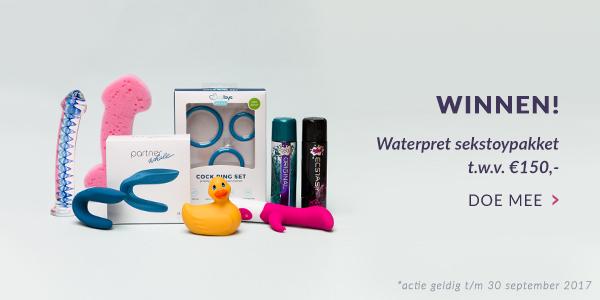 Winactie Waterpret Sextoypakket
