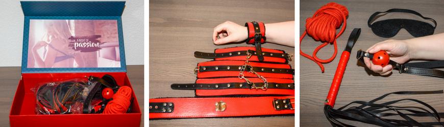 bdsm set rood