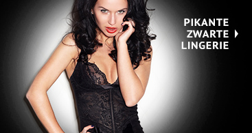 Zwarte pikante lingerie